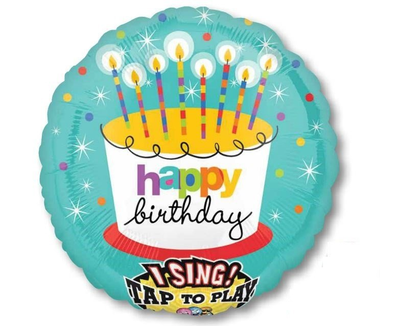 Sing-A-Tune  Stripped Birthday Candles P75
