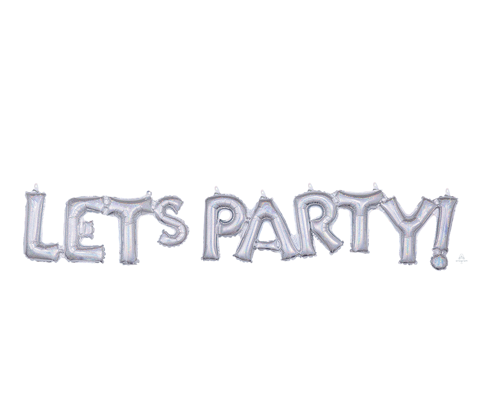 CI: Script Phrase LET'S PARTY! Silver Holographic G40