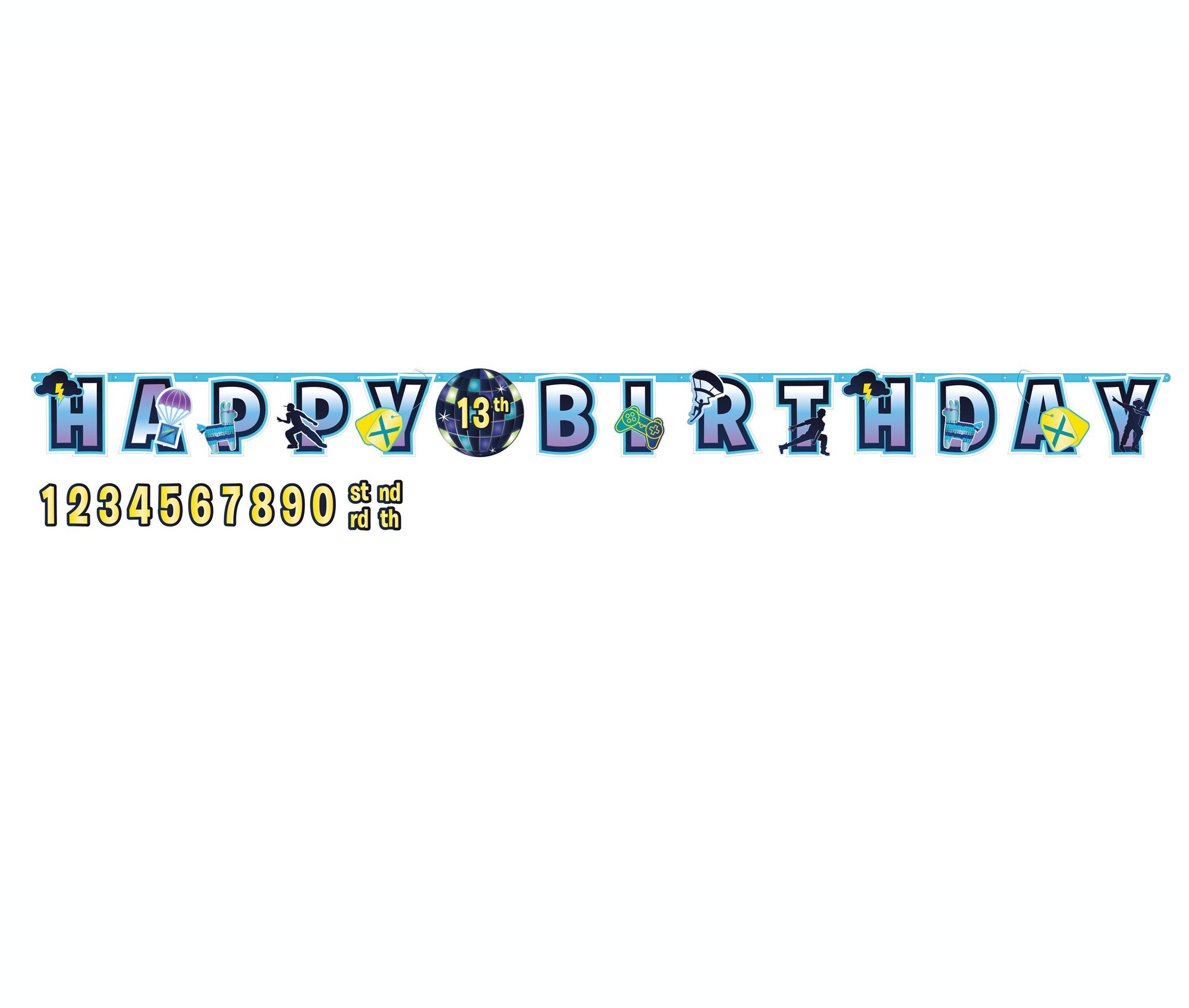 Battle Royal Jumbo Happy Birthday Add-An-Age Letter Banner