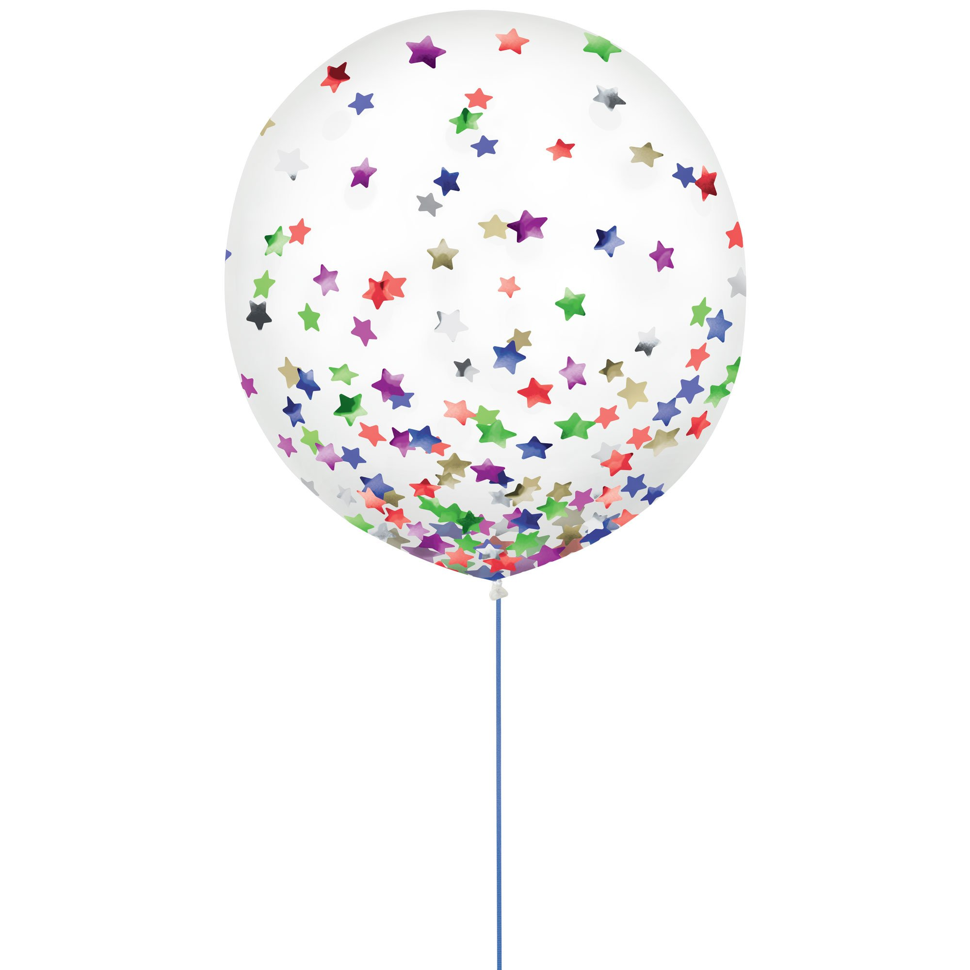 Latex Balloons 60cm & Confetti Stars