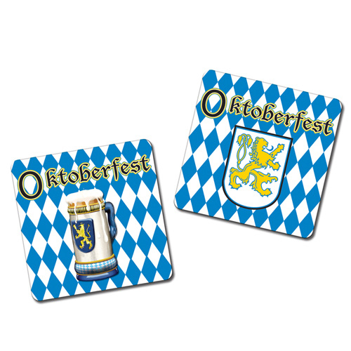 Oktoberfest Drink Coasters Assorted Designs