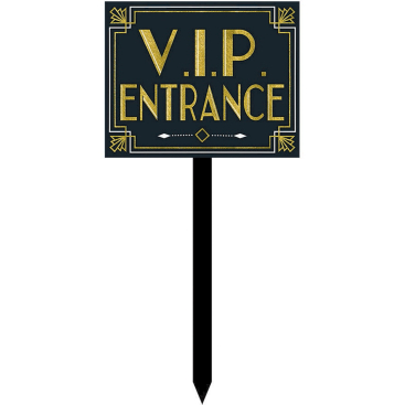 Glitz & Glam VIP Entrance Large Yard Stake