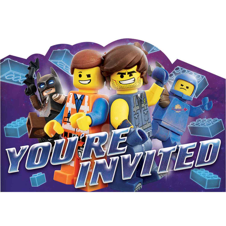 Lego Movie 2 Postcard Invitations