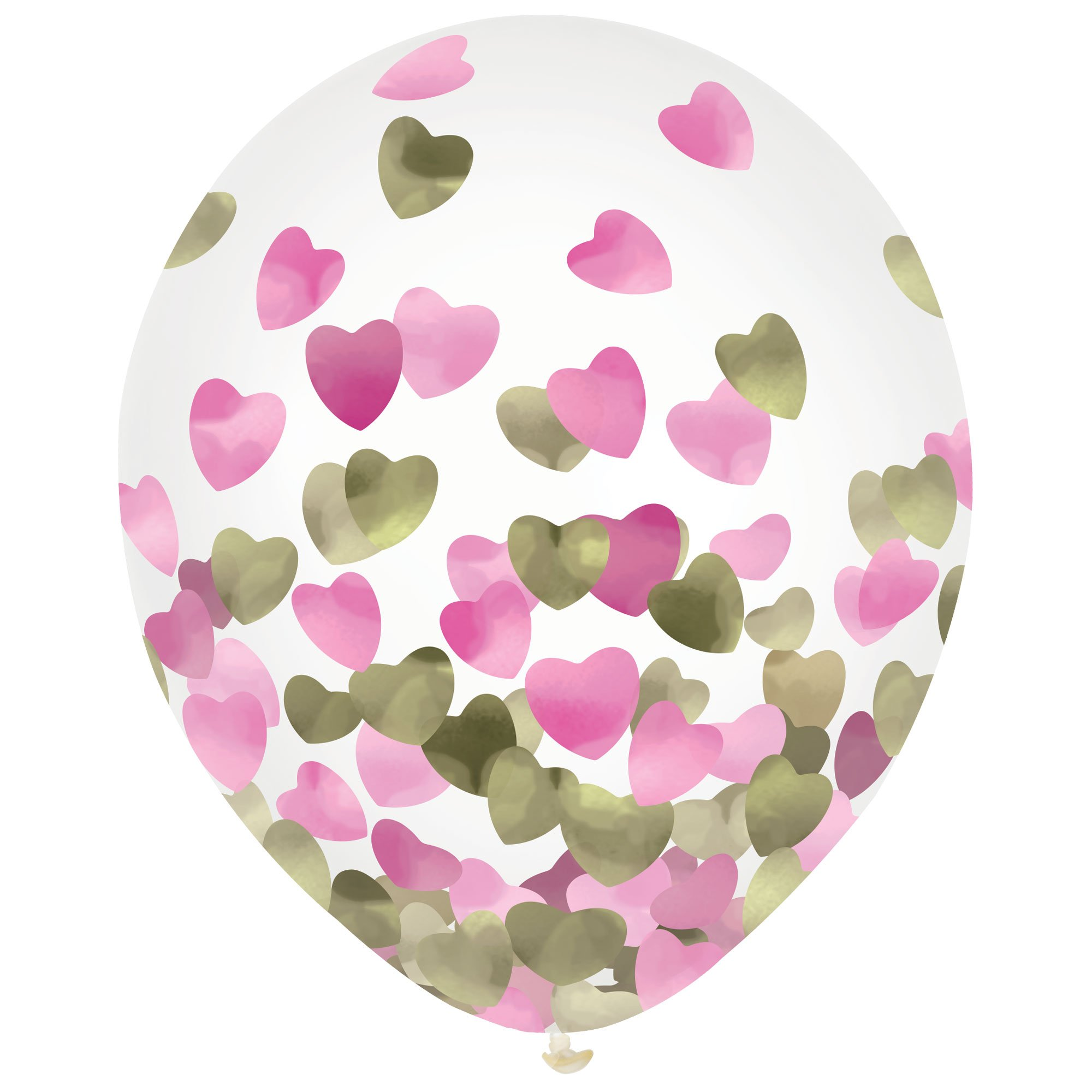Latex Balloons 30cm & Confetti Hearts