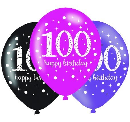 Pink Celebration 100 30cm Latex Balloon