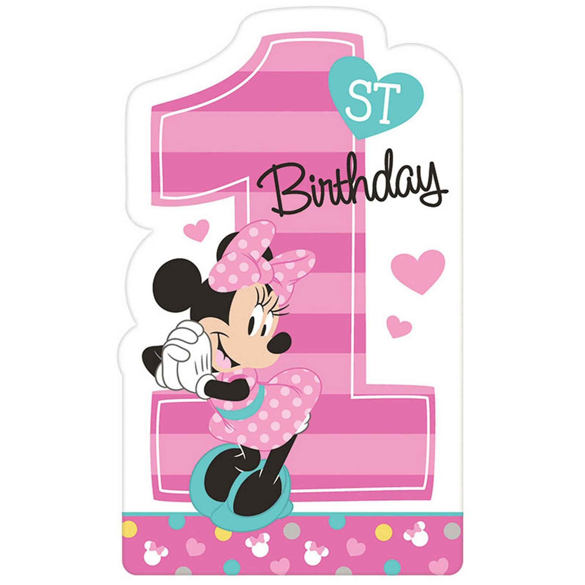 Minnie Fun To Be One Postcard Invitations