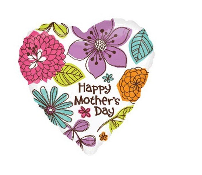22cm Happy Mother's Day Beautiful Floral A15