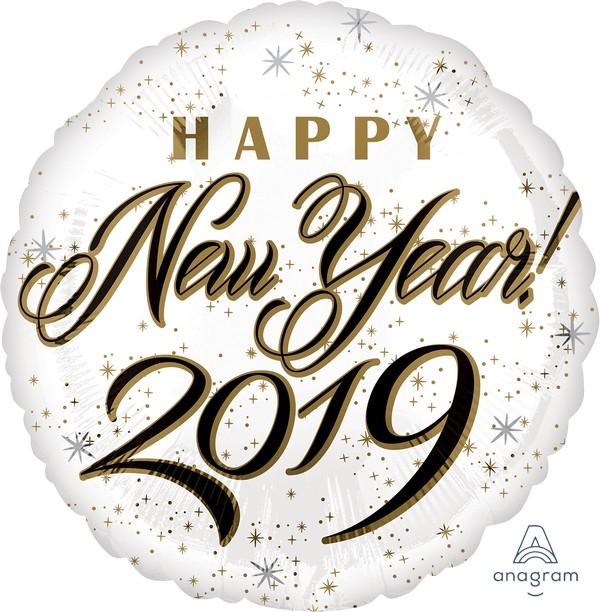 45cm Standard HX Happy New Year 2019 S40