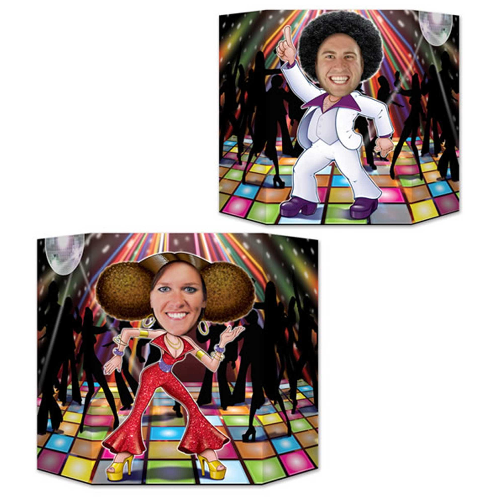 Disco Couple Dancers Photo Prop