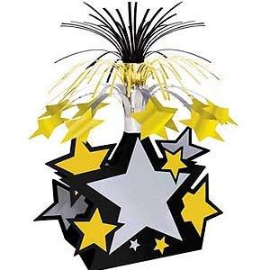 Stars Gold, Silver & Black Cascade Centrepiece