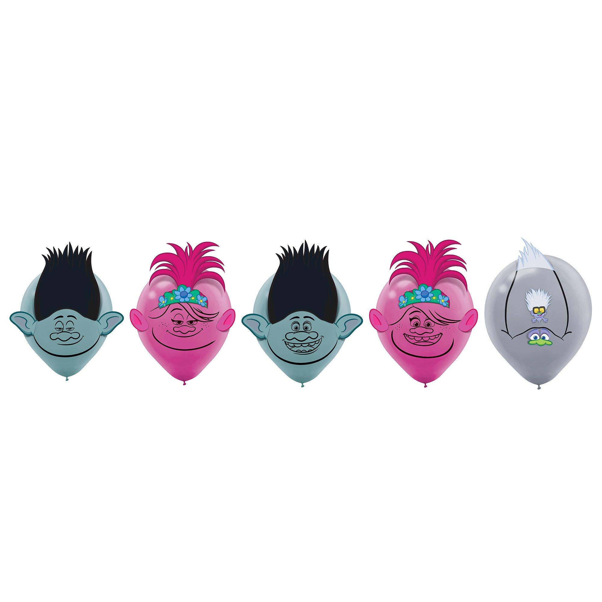 Trolls World Tour 30cm Latex Balloons Decorating Kit