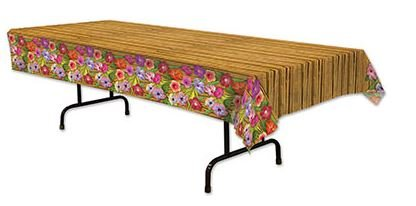 Luau Flowers & Bamboo Tablecover