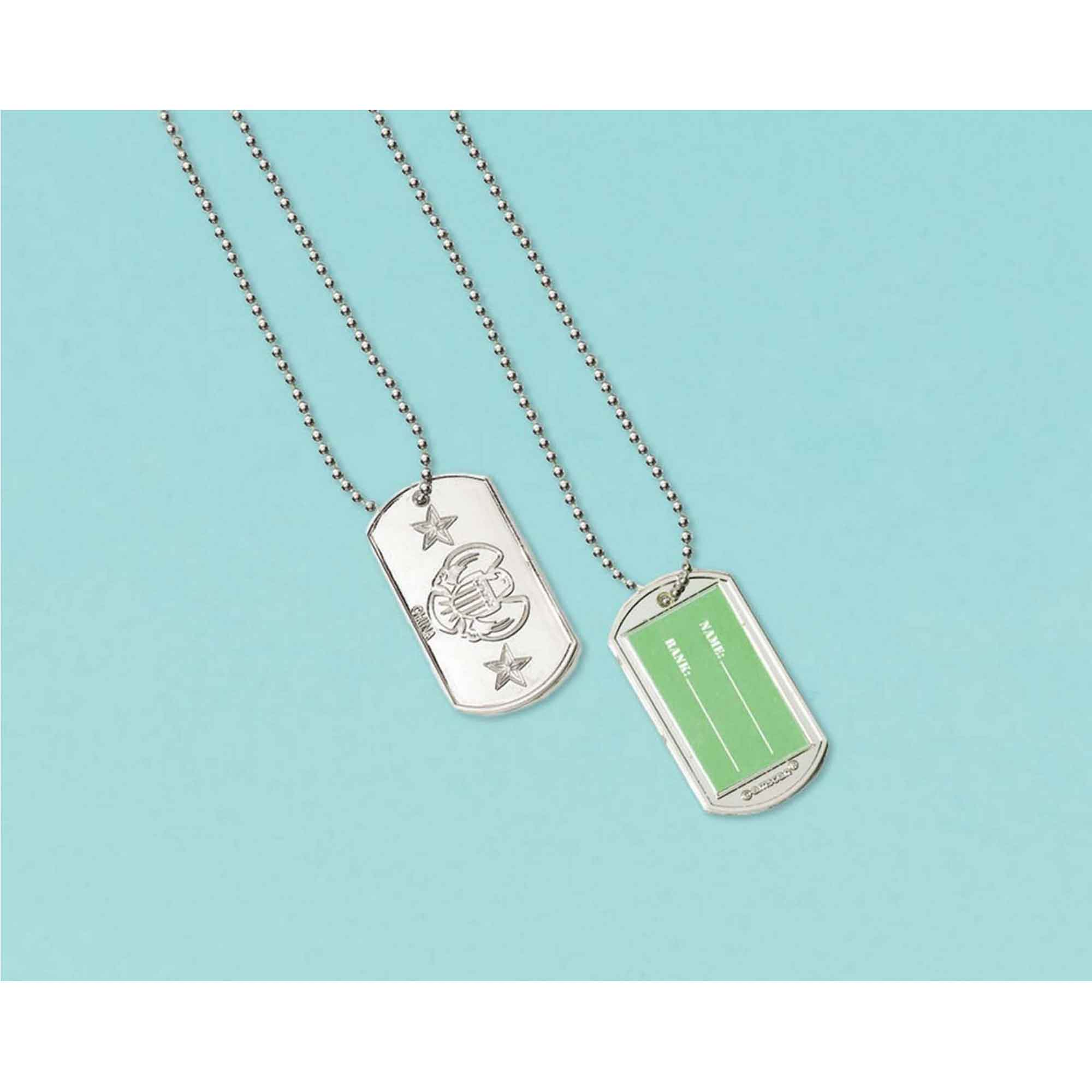 Camouflage Electroplated Dog Tag Favor