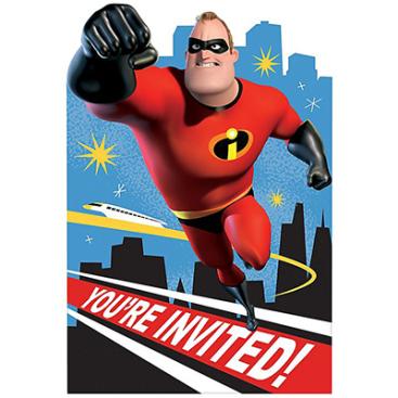 Incredibles 2 Postcard Invitations