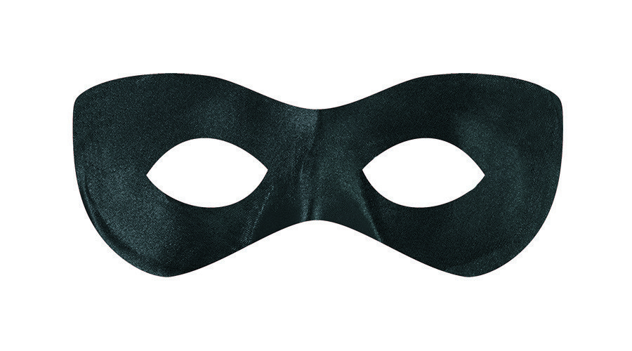 Super Hero Mask - Black
