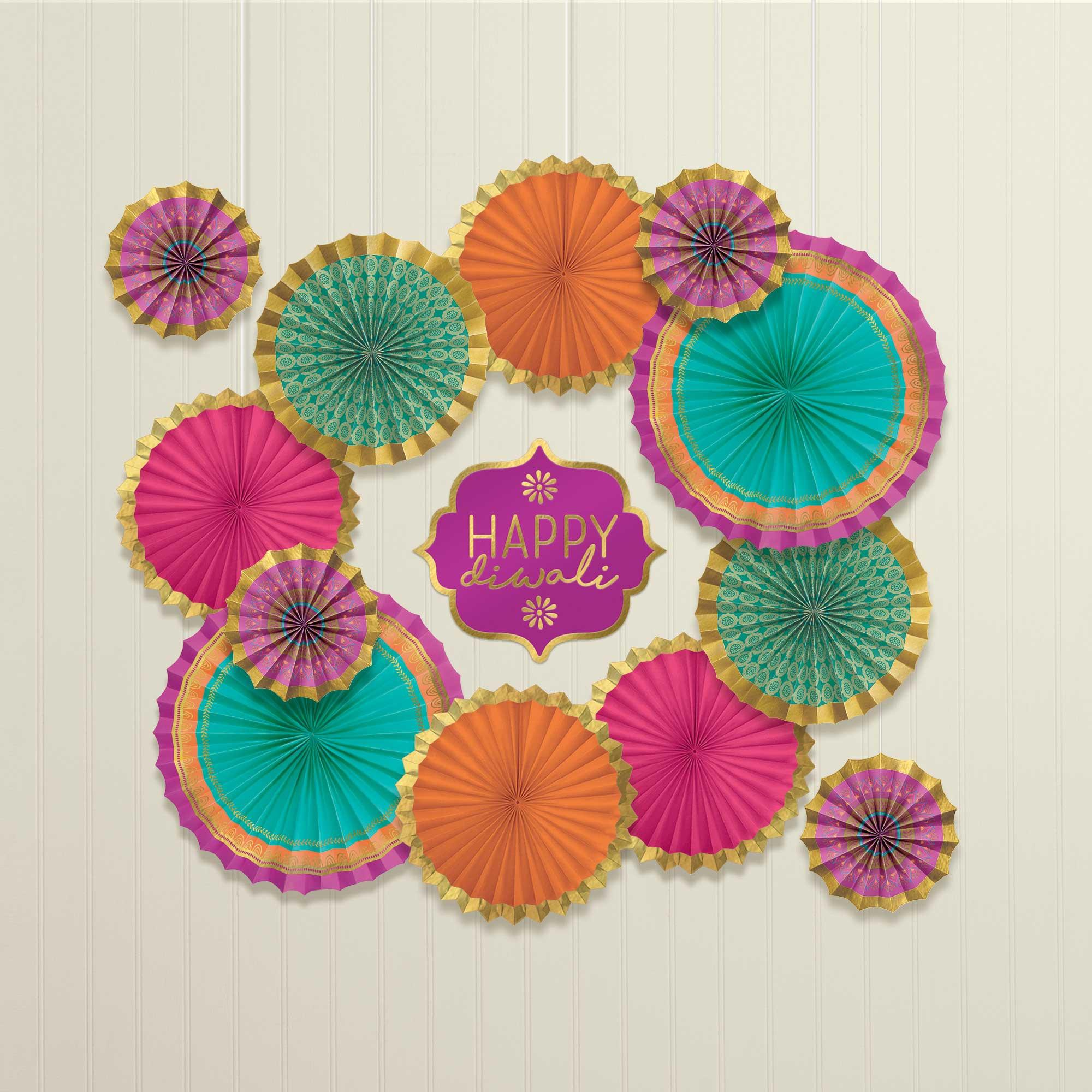 Diwali Paper Fans Decorating Kit