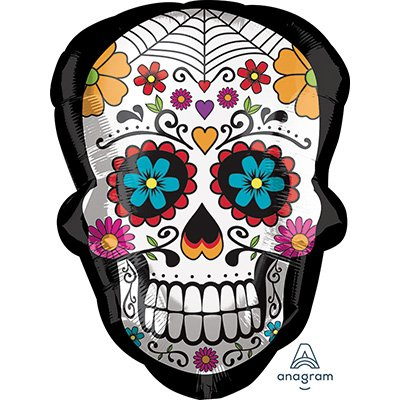 SuperShape XL Sugar Skull Day of the Dead P30