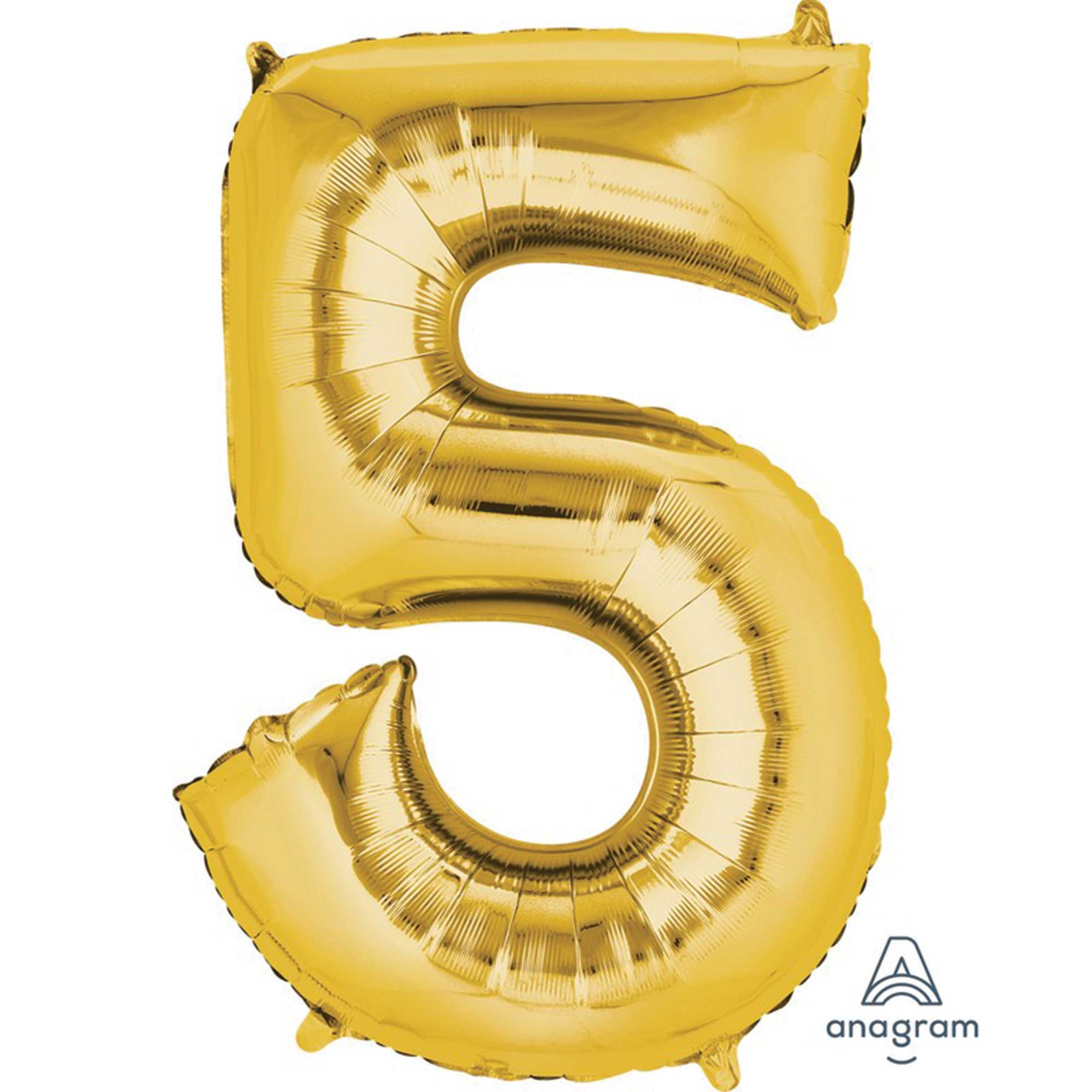 SuperShape Gold Numeral 5.  86cm L34