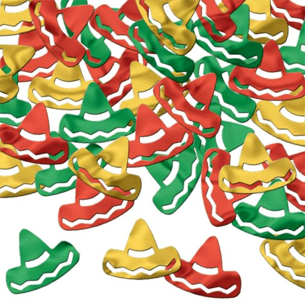 Confetti Sombreros Red Green & Gold 28g