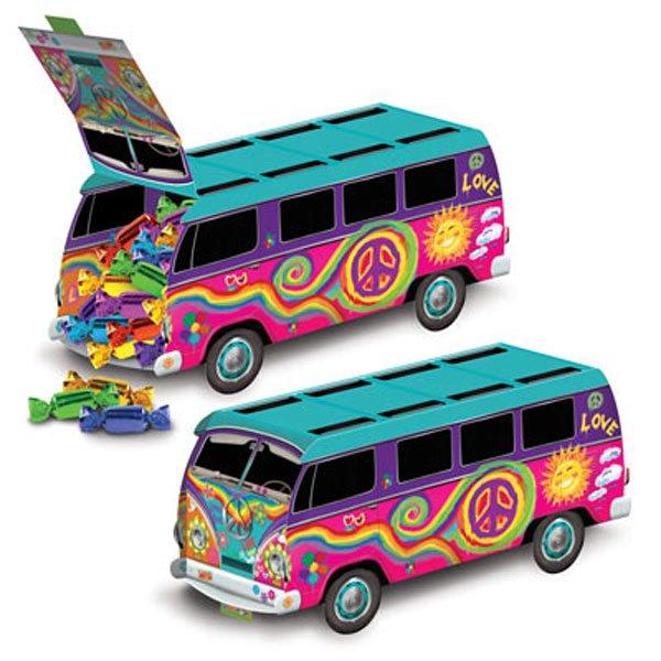 60's Peace Bus Kombi Van Centrepiece