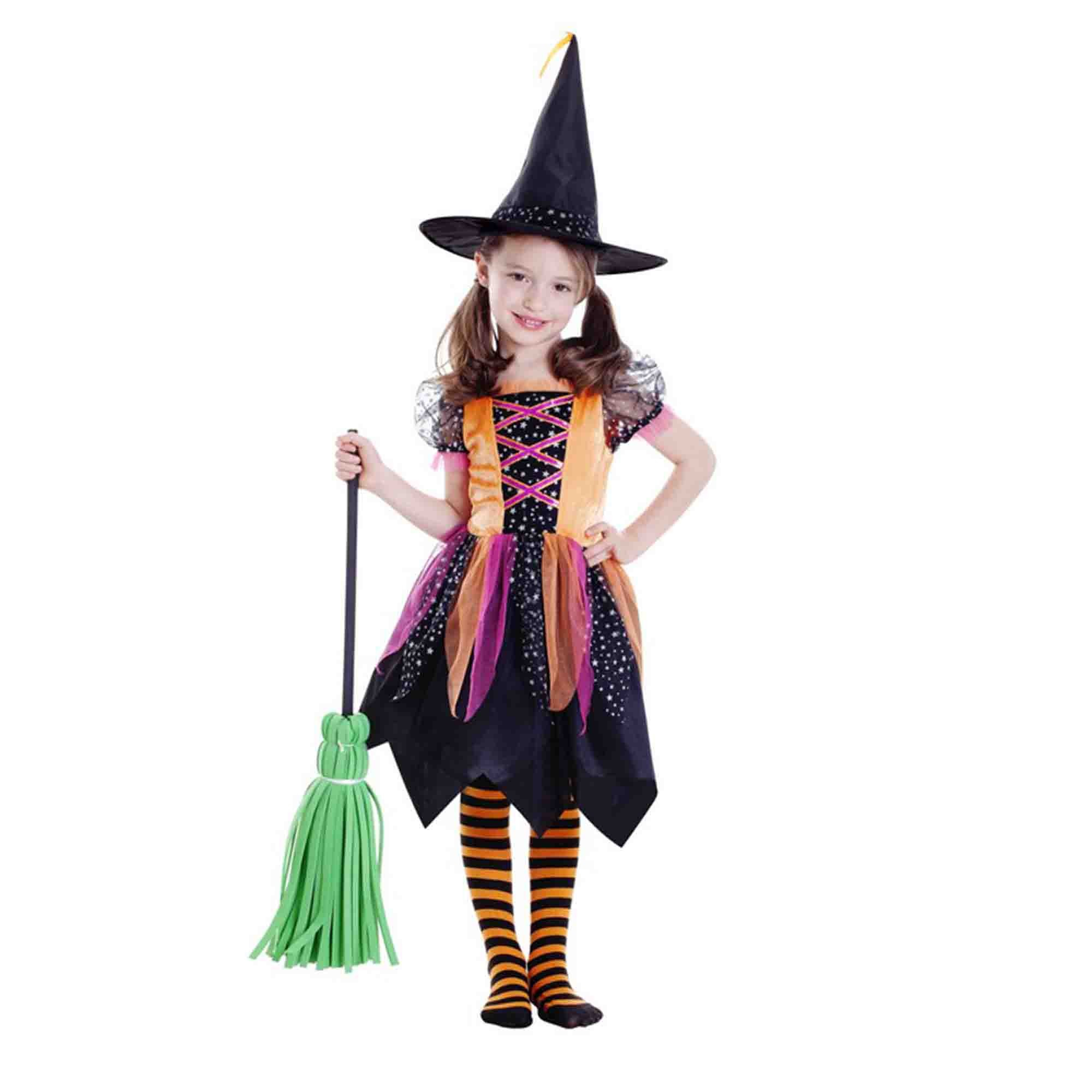 Deluxe Witch Girl Costume (Large) 6-8 yrs