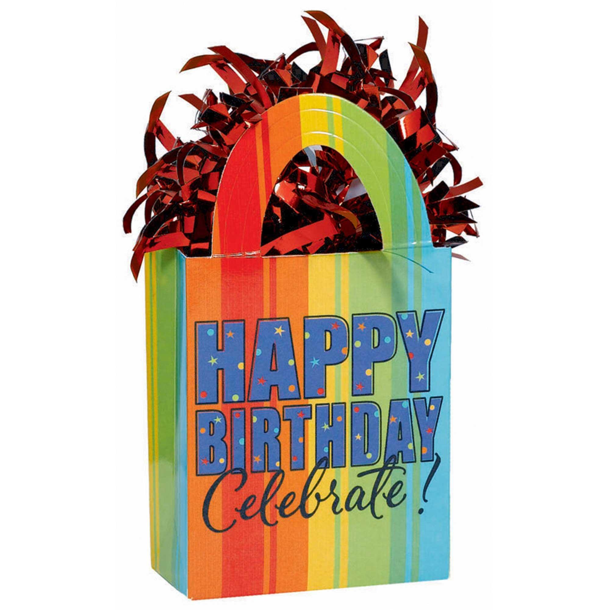 Balloon Tote Weight - Happy Birthday Celebrate
