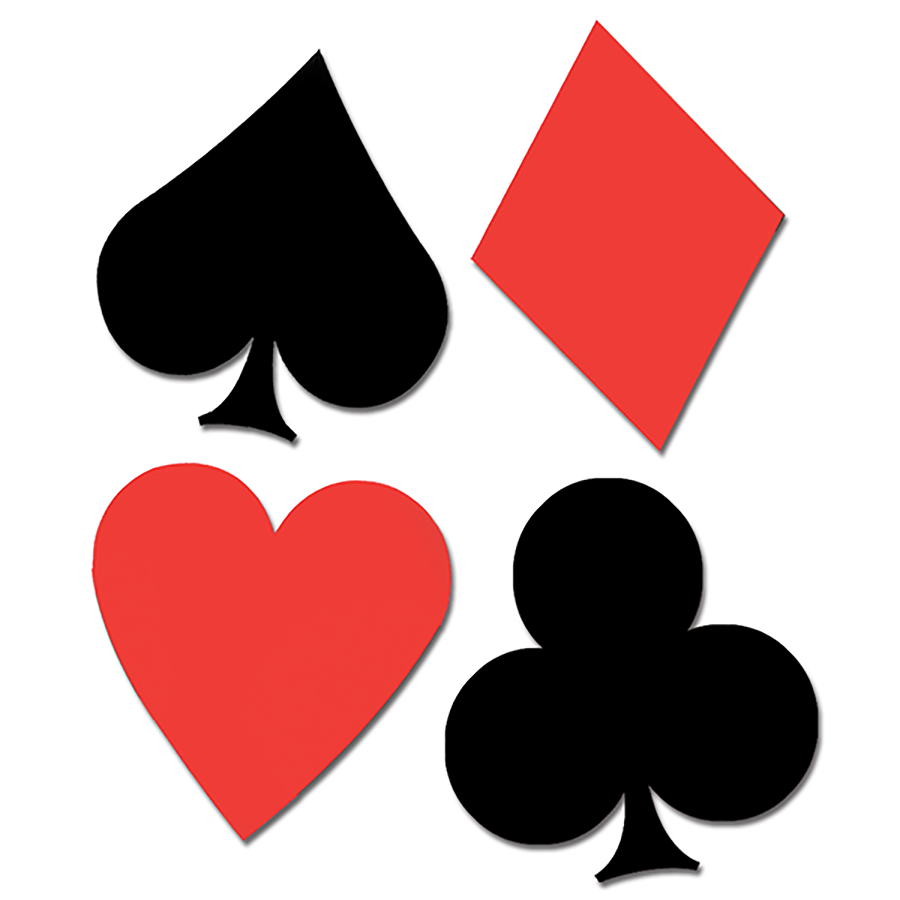Playing Card Suits Cutouts
