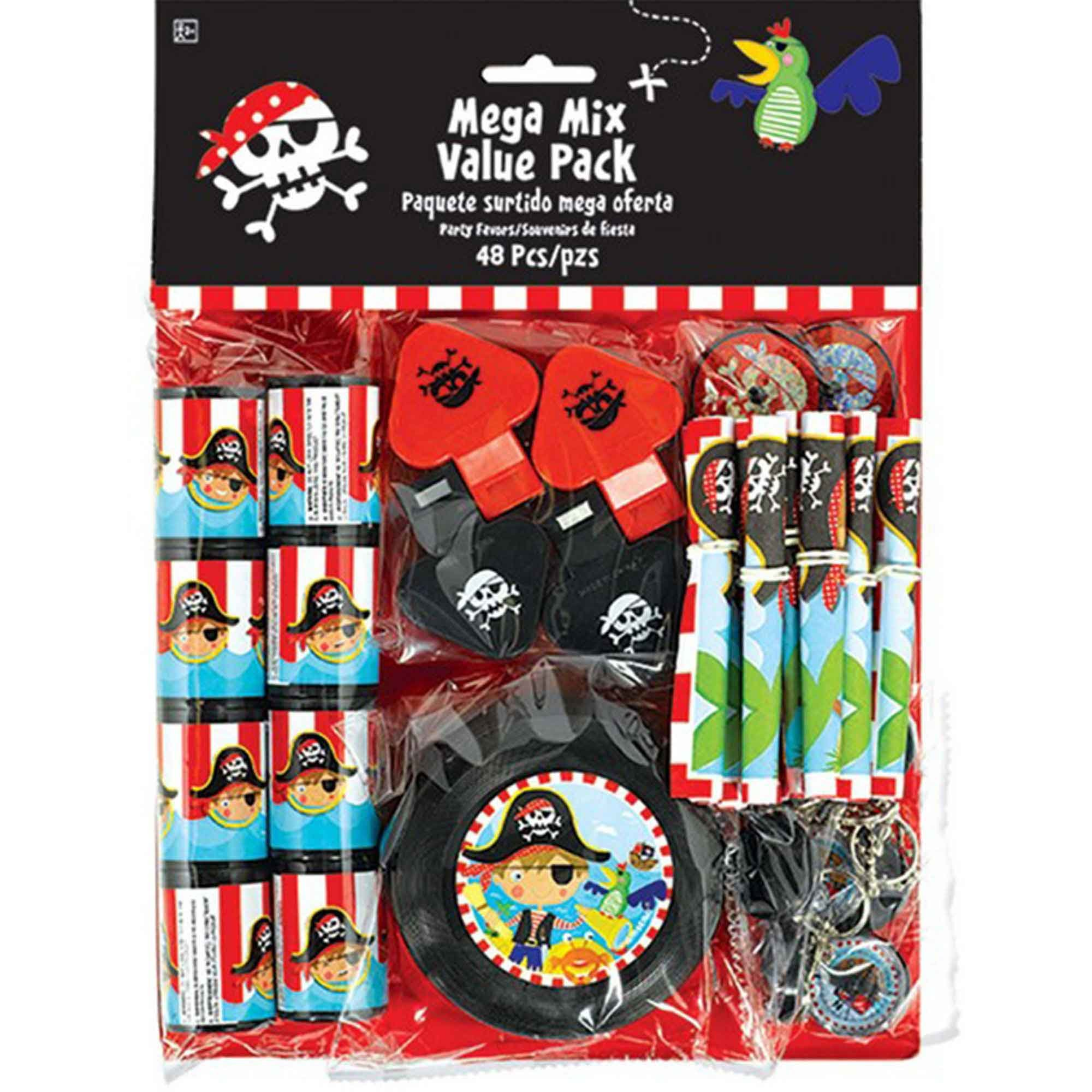 Little Pirate Favor Value Mix Pack 48pc