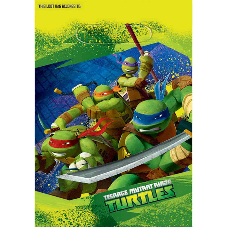 Teenage Mutant Ninja Turtles Folded Loot Bags