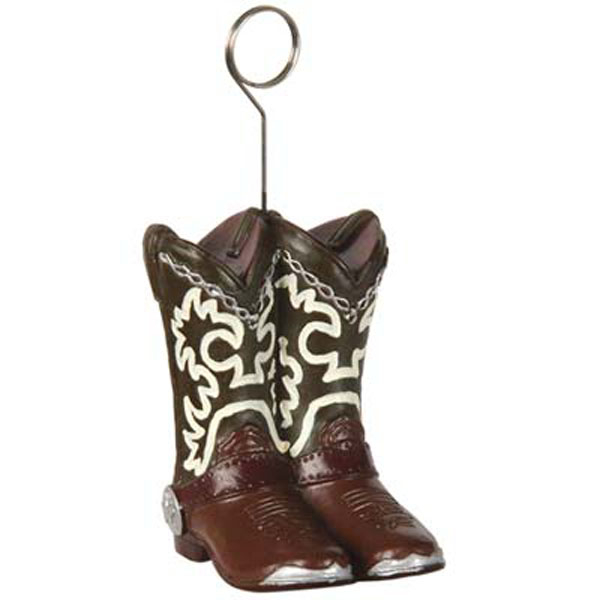 Photo Holder Balloon Weight Cowboy Boots
