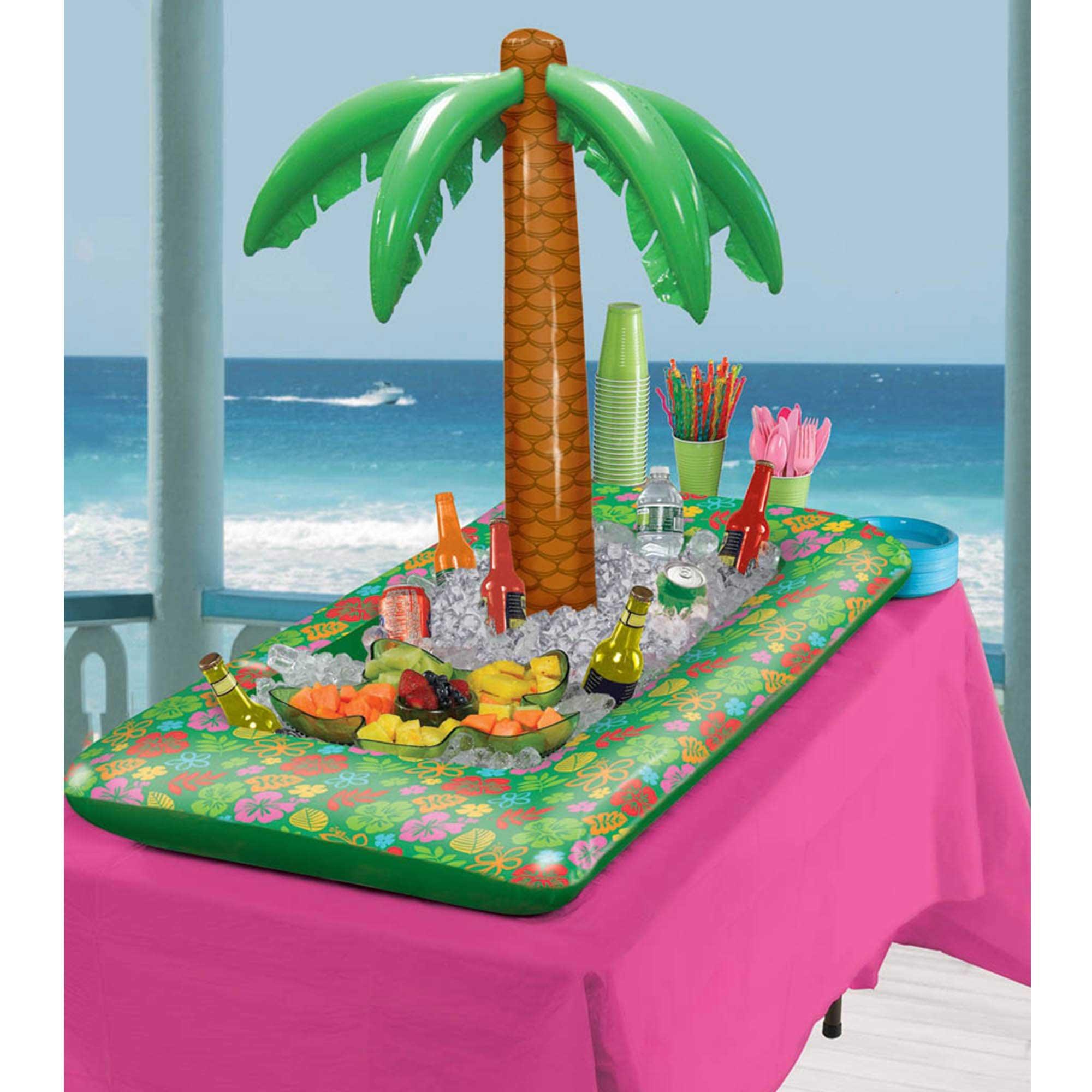 Summer Luau Inflatable Palm Tree Buffet Cooler