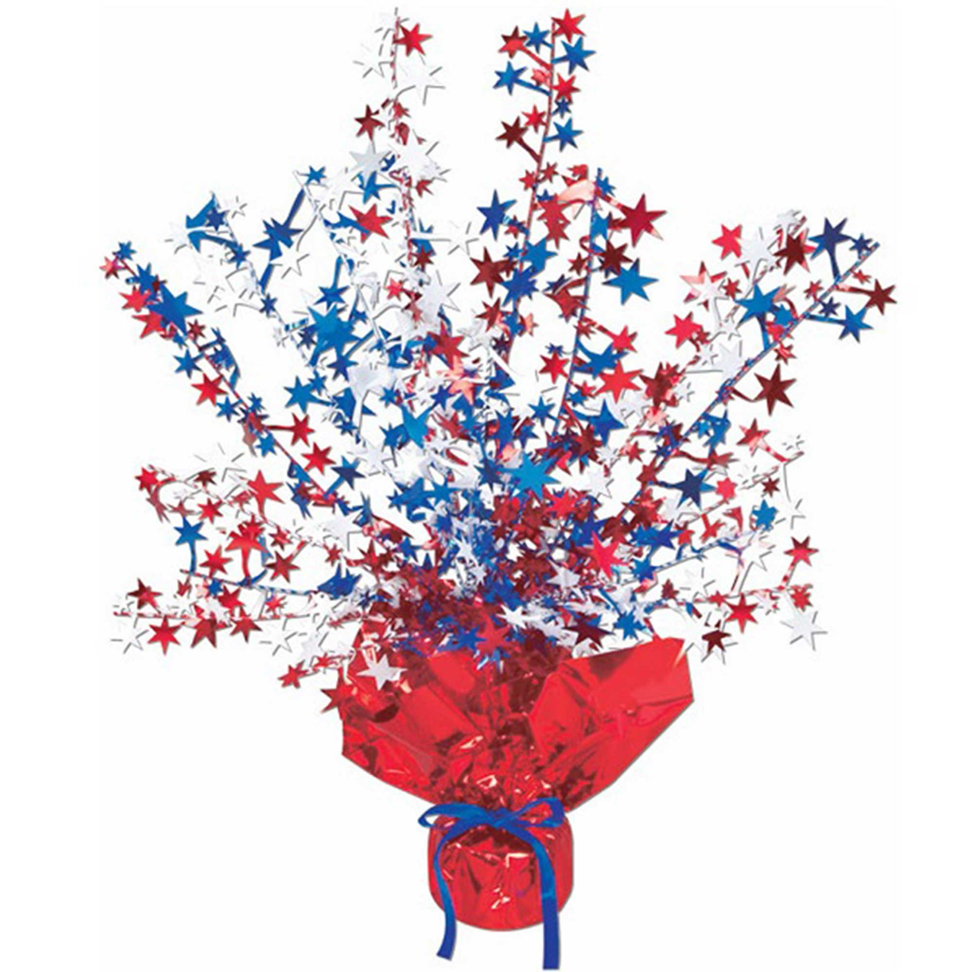 Star Gleam 'N Burst Centrepiece Red, White & Blue