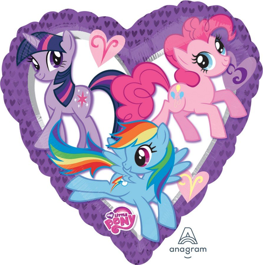 45cm Standard XL My Little Pony Heart S60