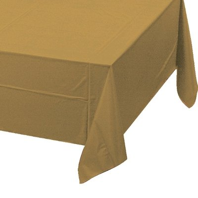 Glittering Gold Tablecover Plastic 137cm x 274cm