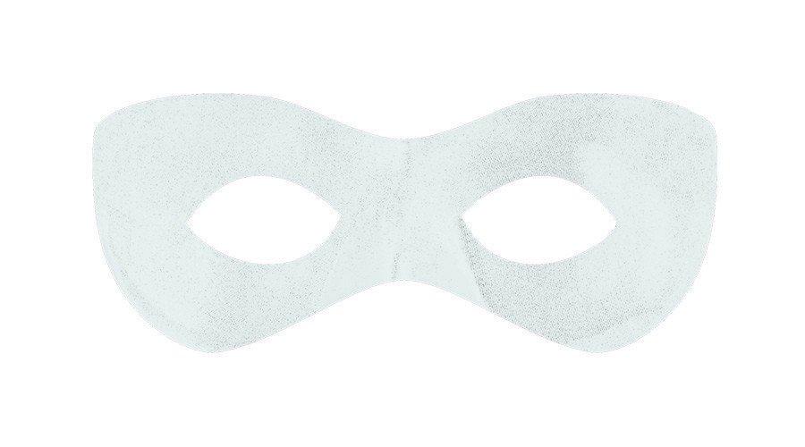 Super Hero Mask - White
