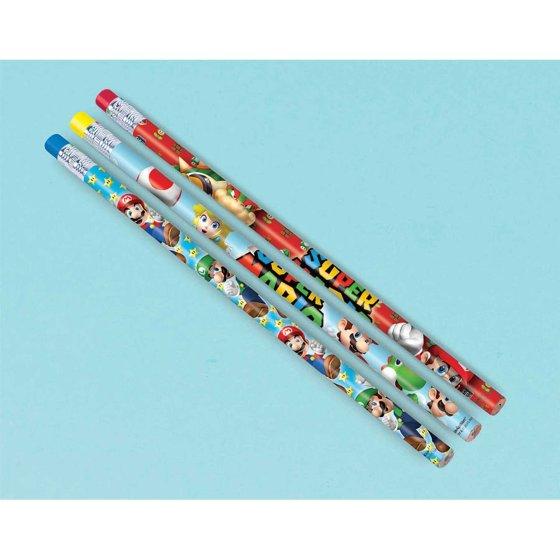 Super Mario Brothers Pencils Favor