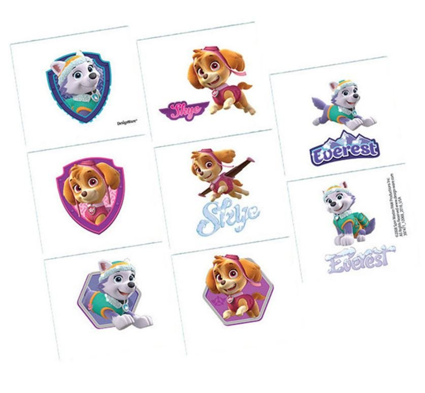 Paw Patrol Girl Tattoo Favors