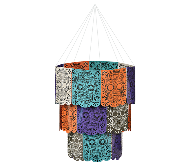 Sugar Skull Day of the Dead Chandelier Hanging Decoration