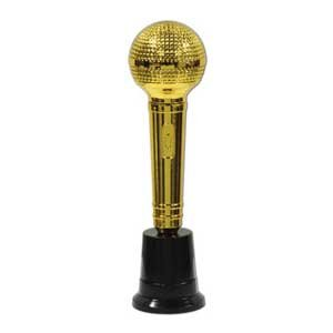 Awards Night Microphone Decoration Gold & Black Base