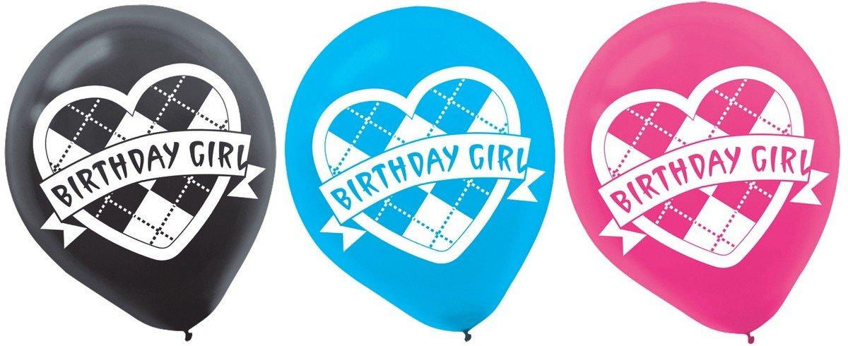 Argyle Birthday Girl 30cm Latex Balloons