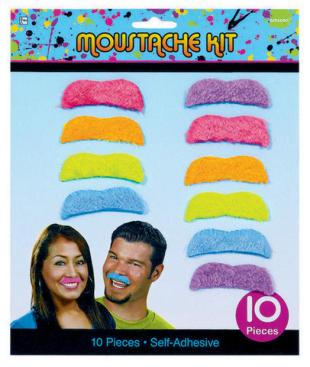 Totally 80's Moustache Kit