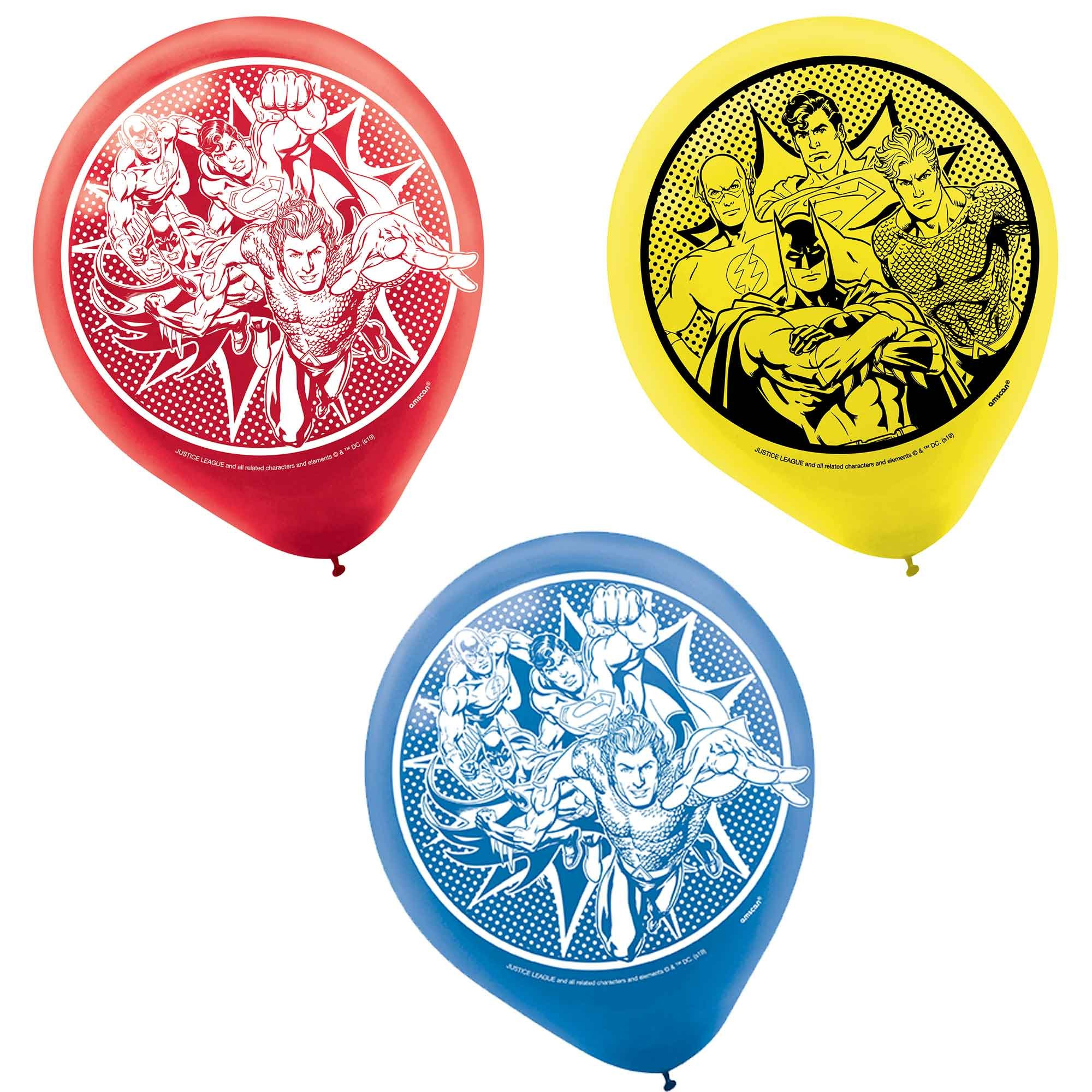 Justice League Heroes Unite 30cm Latex Balloons