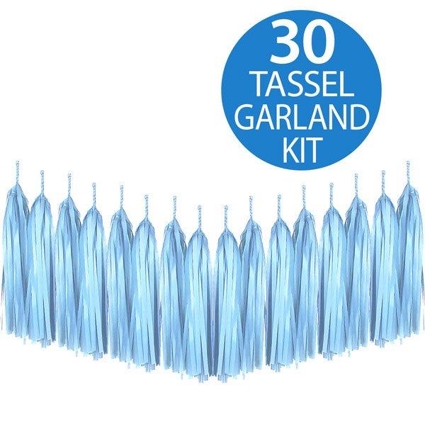 Tassel Garland Tissue Paper Pale Blue