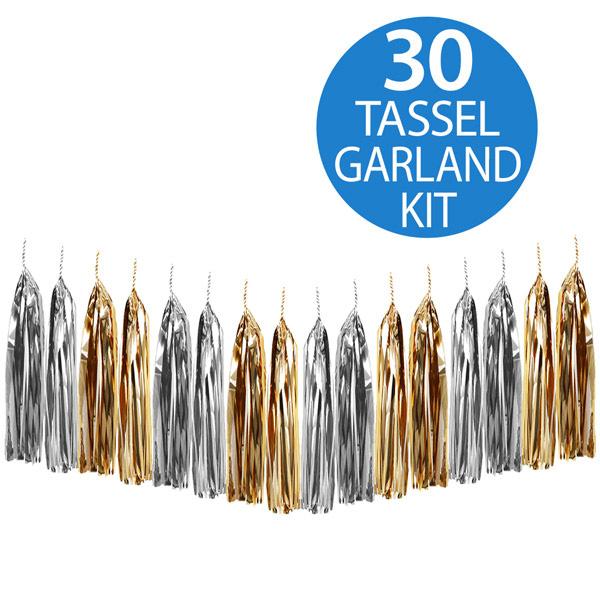 Tassel Garland Gold & Silver Metallic Foil