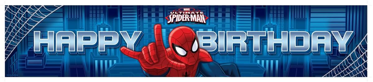 Ultimate Spider-Man Plastic Banner