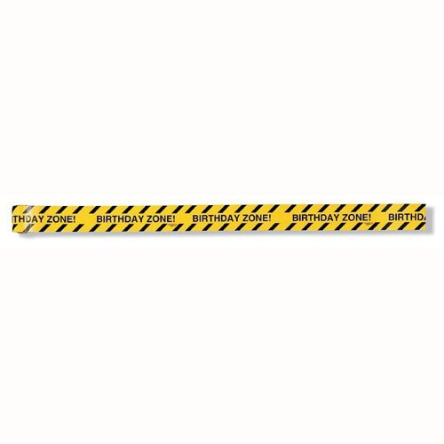 Big Dig Construction Birthday Zone Warning Tape