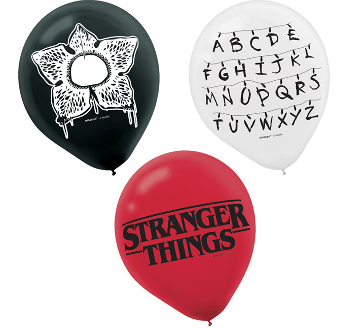 """Stranger Things 12"""" / 30cm Latex Balloons 6PK"