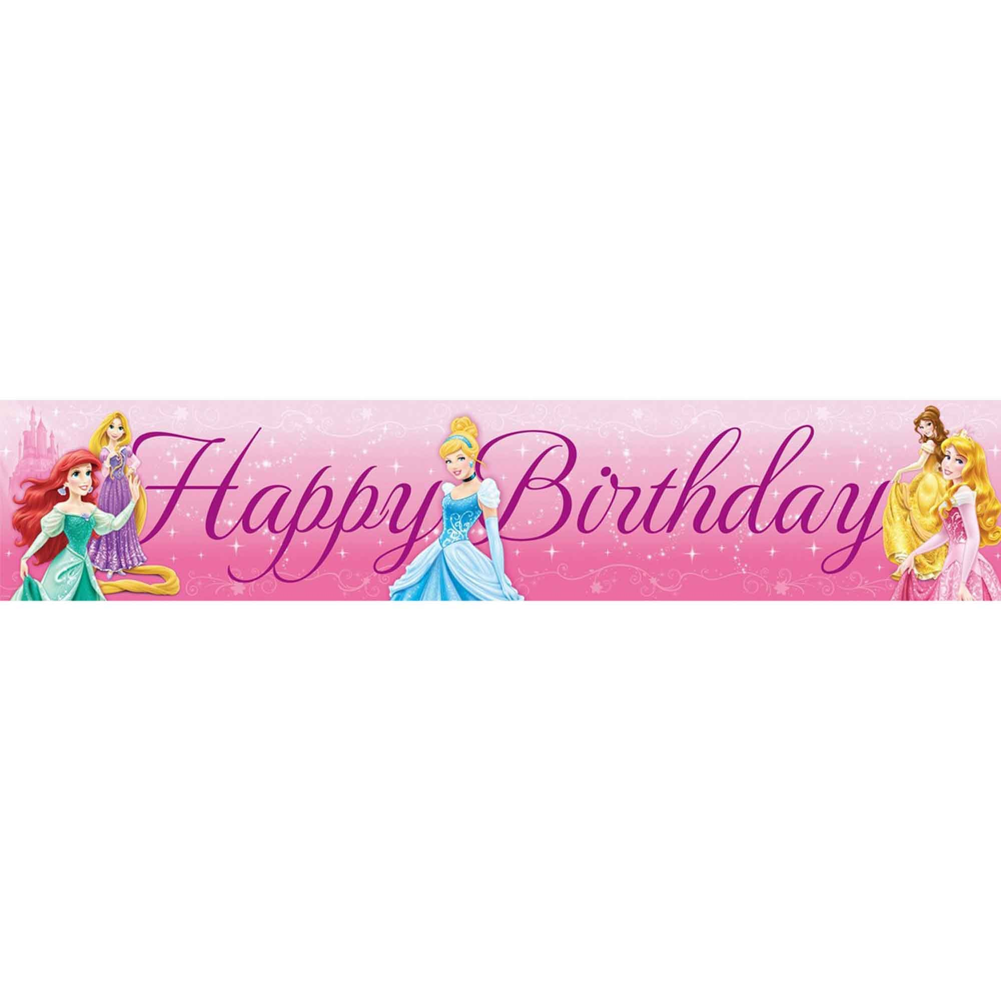 Disney Princess Sparkle Plastic Banner