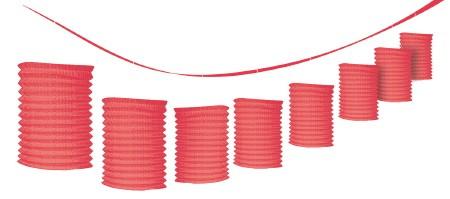 Paper Lantern Garland-Red