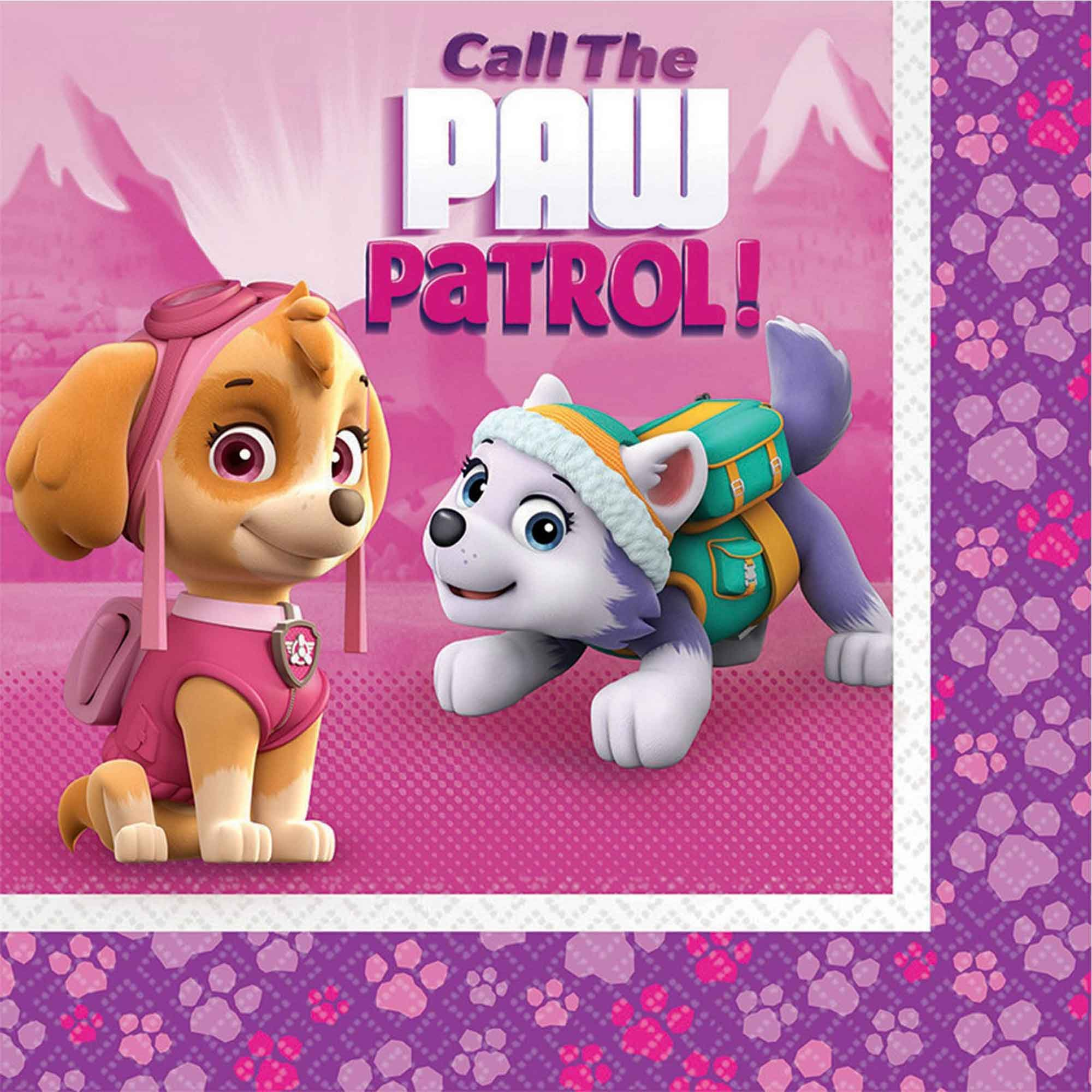 Paw Patrol Girl Lunch Napkins